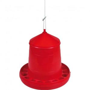 Tolvas plástica para gallinas 8 kg rojo