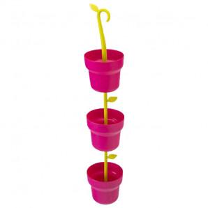 Colgador macetas rosa