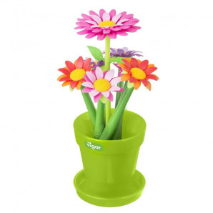 Bolígrafo flores variadas