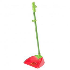 Recogedor con palo rojo