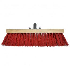 Cepillo barrendero rojo con garra metálica