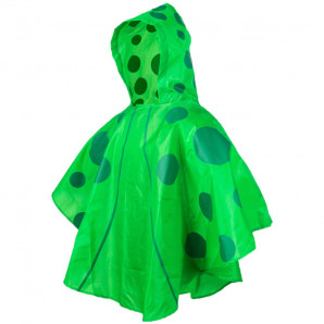 Impermeable verde kids
