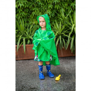 Impermeable verde kids