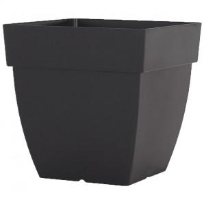 Vaso Capri cuadrada 40 cm alto negro