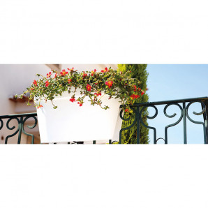 Jardinera Capri balcones gris pardo 60 cm