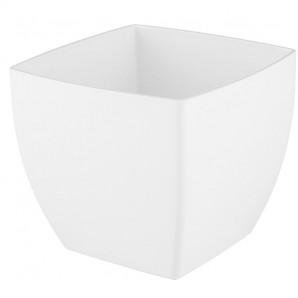 Maceta Siena cuadrada 20 cm blanco