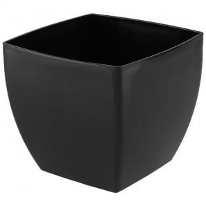 Maceta Siena cuadrada 20 cm negro