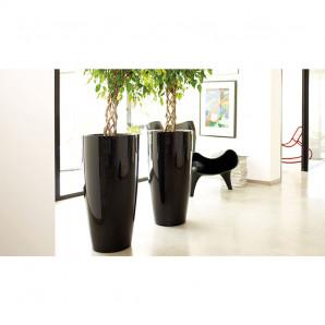 Maceta Santorini alto 65 cm negro
