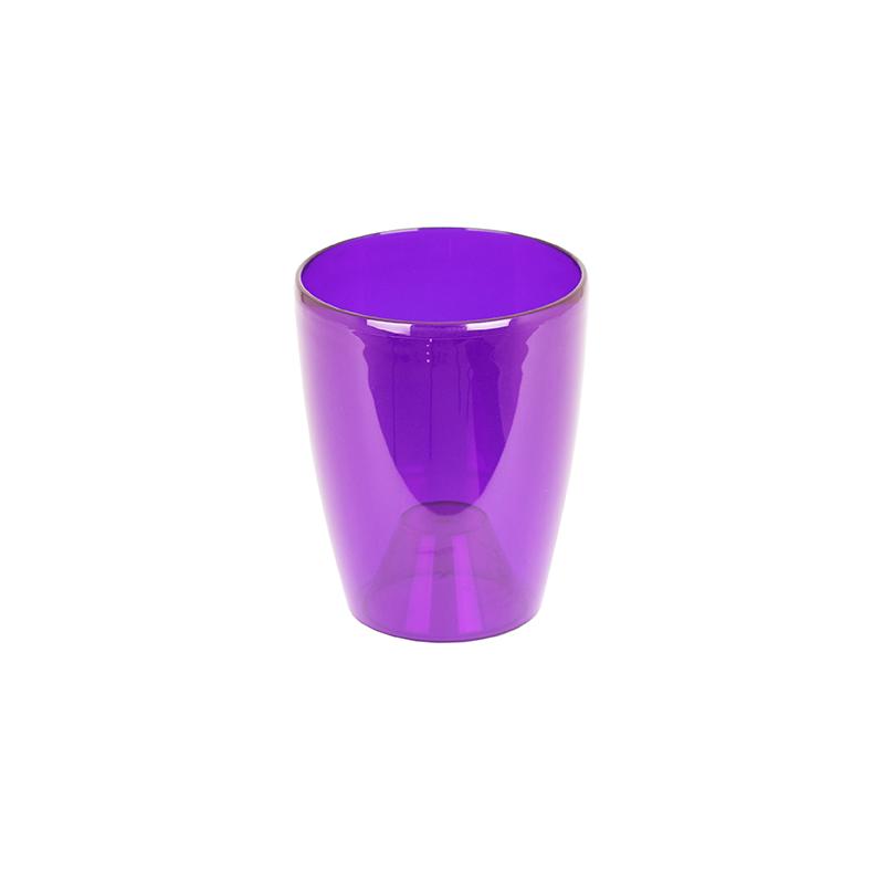 Maceta orquideas Fiji 15 cm violeta transparente