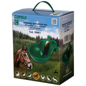 Bebedero empujador caballos