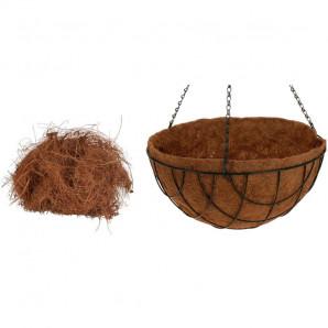 Maceta colgar en fibra de coco 25 cm