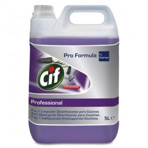 Cif profesional limpia y desinfecta cocinas 5 Lt