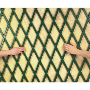 Celosía de plástico 1 x 2 m verde montaje