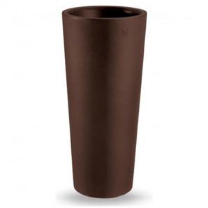 Maceta Clou alto 85 marrón