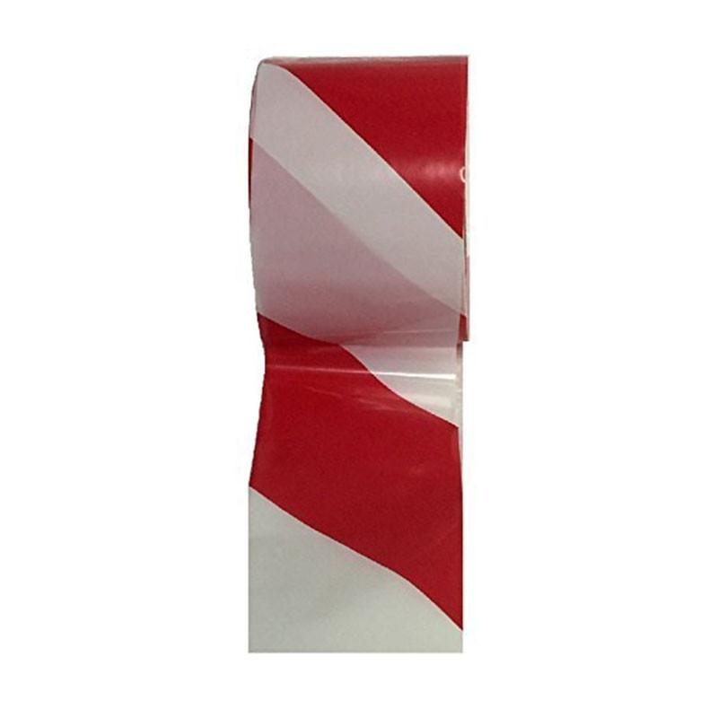 Cinta señalizacion blanca y roja 70 mm x 200 m