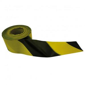 Cinta señalizacion amarilla y negra 70 mm x 200m