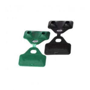 Clip malla 5 cm verde/negro