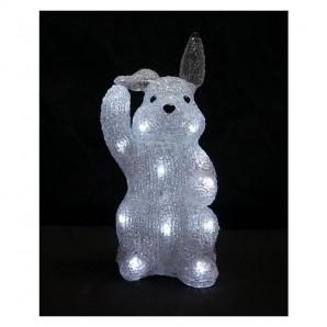 Conejo acrílico con luces