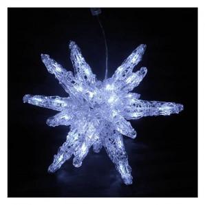 Estrella hielo acrílico con luces