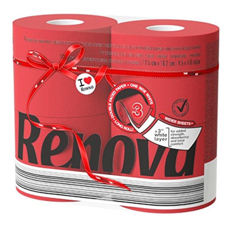 Papel higiénico rojo