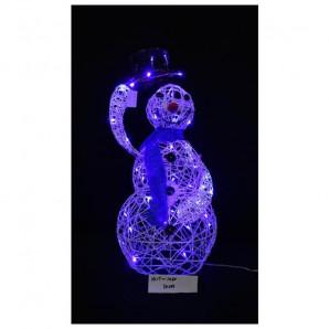 Muñeco nieve pequeño con luces 110 cm