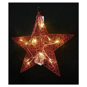 Estrella roja 45 cm