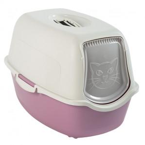 Cat toilet rothopro blanco y rosa