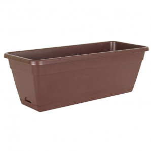 Jardinera reserva de agua 50 cm bronce
