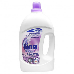 Lina detergente + quitamanchas activo violetas 2.925 lt