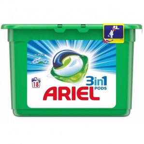 Ariel capsulas 18 lavados