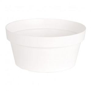 Maceta bowl Capri 25 cm blanco