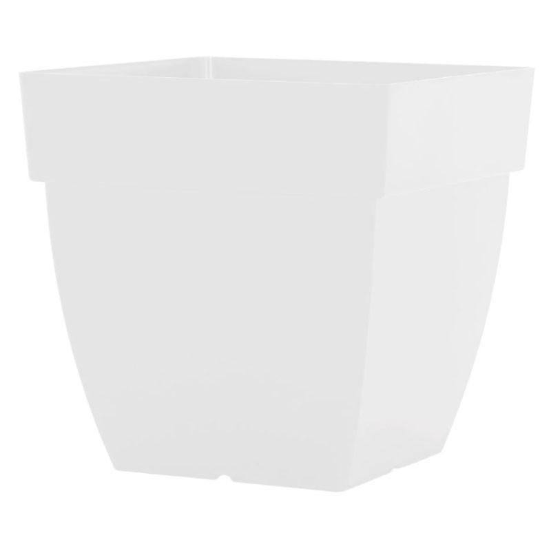 Maceta cuadrada Capri 45 cm blanca