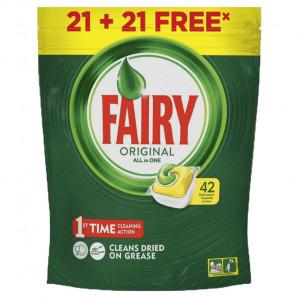 Fairy lavavajillas 42 cápsulas limón