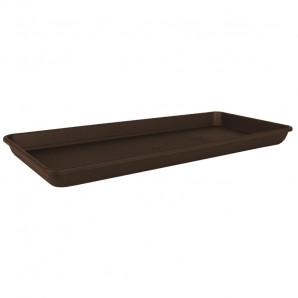 Plato rectangular Venezia XL 80 cm bronce