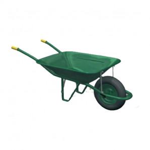 Carretilla normal verde con rueda neumática
