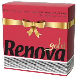 Servilletas Gold rojas