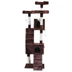 Rascador Nilo marron 50 x 50 x 170 cm