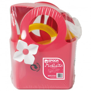juego de herramientas de jardín rosa